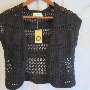 Sonoma Sweaters - New Womens Shrug short cover shoulder black knit