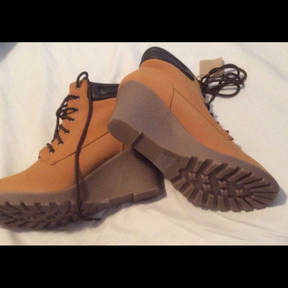 Shiekh Shoes   Womens Wedge Work Boots