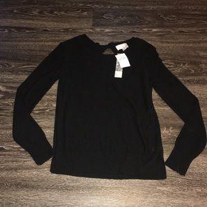 14th & Union Sweaters - Black knit sweater. Peep-a- boo back