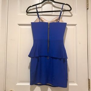 Dresses - Naven Heartthrob Peplum Dress in Vegas Blue NWOT