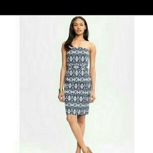 Nwot Banana Republic strapless ikat dress.
