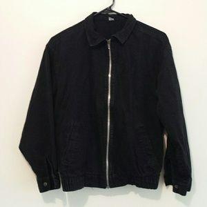 Vintage Jackets & Blazers - Vintage 90s black denim bomber jacket