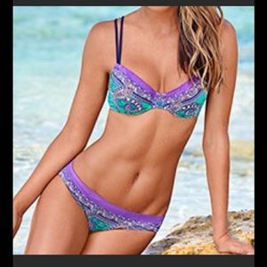Jette Other - NEW JETTE BOHO PAISLEY BIKINI TOP D CUP BOTTOM 4