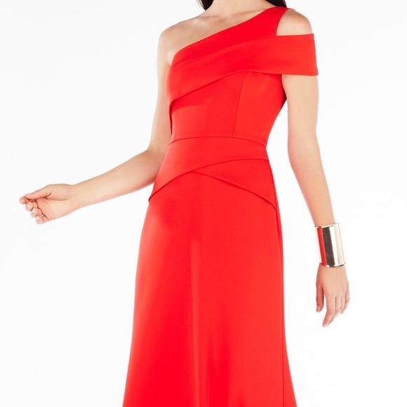 BCBGMaxAzria Dresses | Bcbg Annely Oneshoulder Peplum Gown Brand New ...