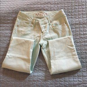 Denim - Delia's mint green skinny jeans in Junior size.
