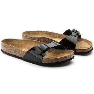 Birkenstock Shoes - Birkenstock Madrid Sandals in Black Patent (Sz 40)