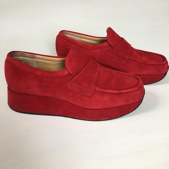 553a288e945 Stephane Kelian Suede Platform Loafers. M 59341f4b8f0fc463e50602e2. Other  Shoes ...