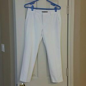 ZARA Woman Cropped Pants or Slacks - White - Small