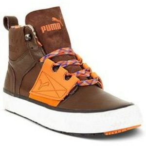Puma Other - PUMA El Ace Boot Brown Leather Sneakers 11