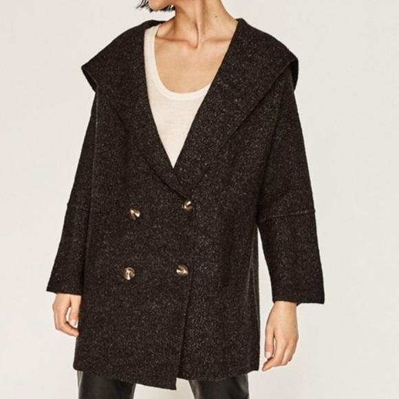 Zara Gray Sweater Coat 86