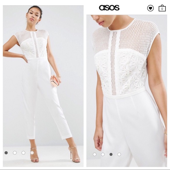 pick up perfect quality huge selection of ✅ Sale! Asos White Lace Jumpsuit