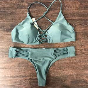 Other - 🍃LAST 1! Green Strappy Bikini