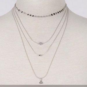 Jewelry - 🔥SALE!!🔥Dainty 4 Piece Necklace-Silver