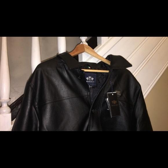 4bba9be95 Brand New Emporio&Co Italian Black Leather Jacket NWT