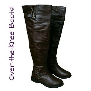 ⤵️ West Blvd Brown Over the Knee Boots Riding NWT