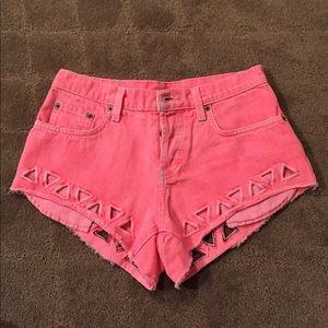 Carmar geometric cut out shorts