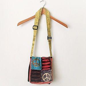 Handbags - Peace symbol peace cross body satchel