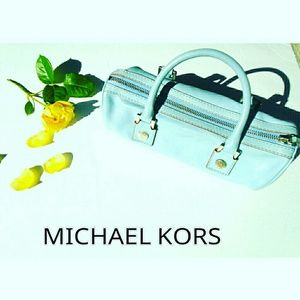 Michael Kors Handbags - MICHAEL KORS POWDER BLUE TOTE PURSE