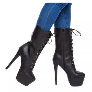 Sophia & Lee Shoes - SOPHIA & LEE Taellor Lace Up Boot Platform