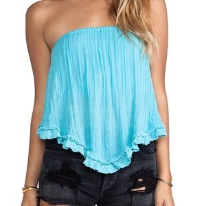 Jen's Pirate Booty Tops - Jen's pirate booty savvy ruffle bandeau top