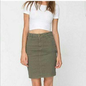 American Apparel Dresses & Skirts - American Apparel Olive Skirt