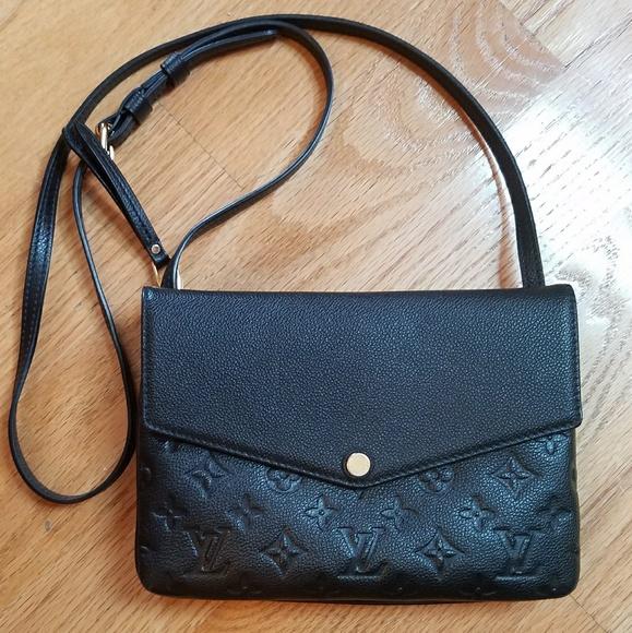 Louis Vuitton Handbags - LOUIS VUITTON Twice Monogram Empreinte Noir Black a915c6d0461dc