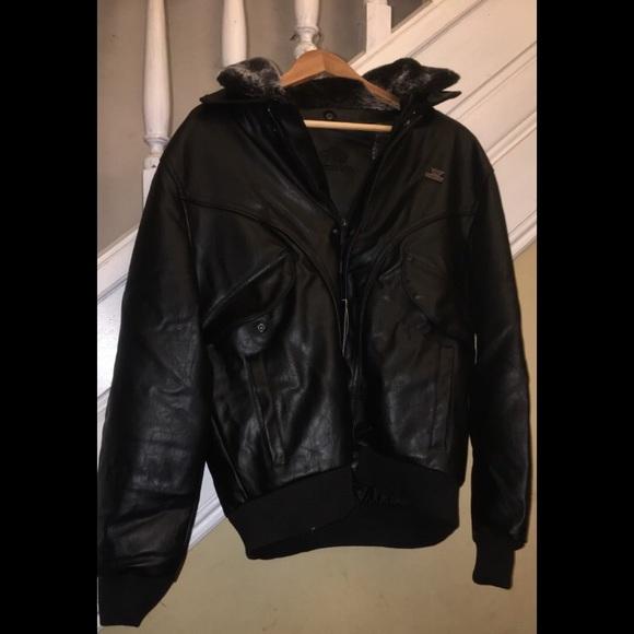 90f2ede41 Emporio & Co Italian Made Leather Jacket NWT