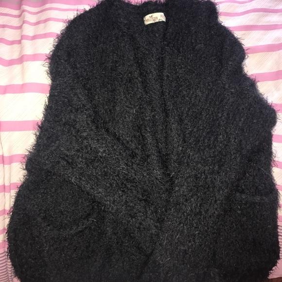 hollister black cardigan
