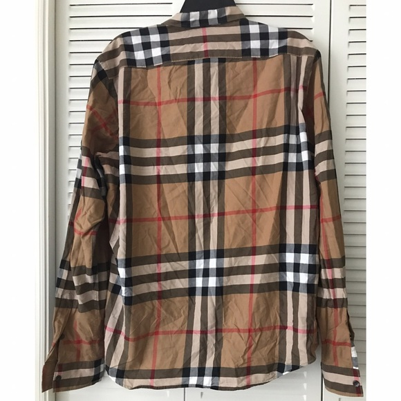 86 off burberry tops burberry brit women 39 s tan for Burberry brit plaid shirt