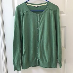 Boden Green Cashmere Cardigan