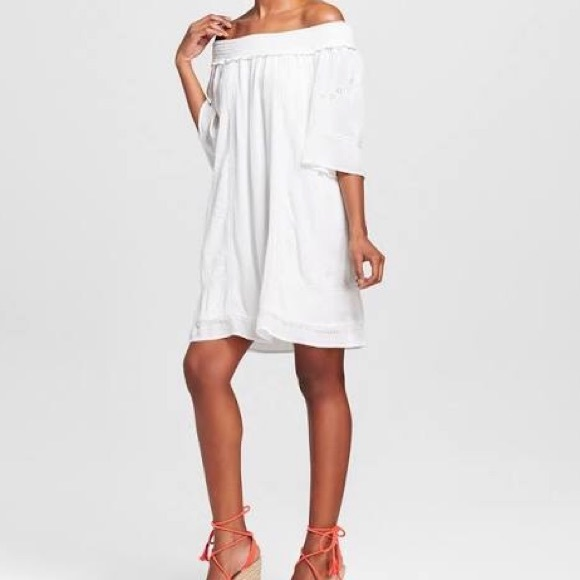 Knox Rose Dresses White Off The Shoulder Dress Poshmark