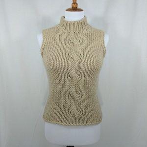 Nine West Sleeveless Mock Neck Sweater