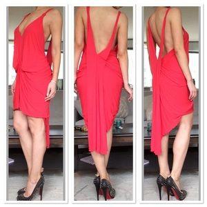 Max Azria Private Label Draped Backless Dress