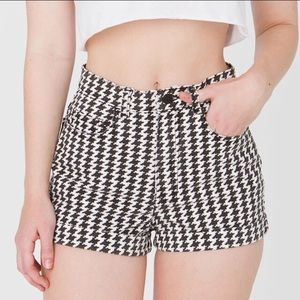 American Apparel Pants - American Apparel High Waist Houndstooth Shorts