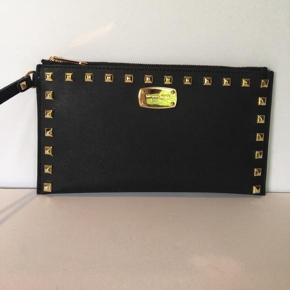 d816a90d73e8 Michael Kors Bags | Sandrine Studded Large Zip Clutch | Poshmark