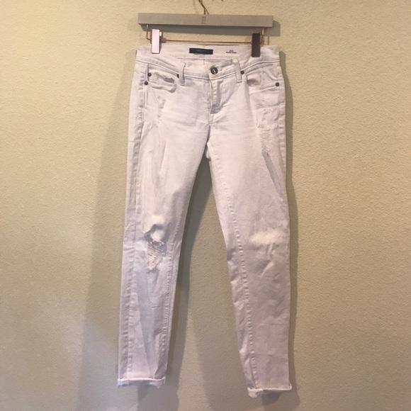 Fidelity Denim - Fidelity white distressed denim jeans