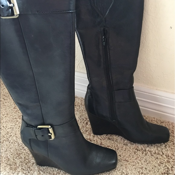 jcpenney Shoes | Ana Black Wedge Knee
