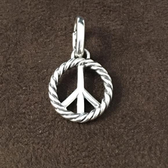 David Yurman Jewelry Ss Peace Sign Charmpendant Poshmark