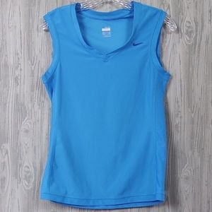Nike Dri-Fit Turquoise Blue Tank Top Size Small