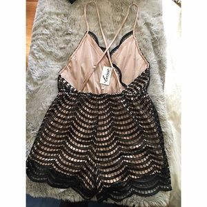 cfbf8129c5f8 White Fox Boutique Other - NWT Black Sequin Romper Size L from White Fox