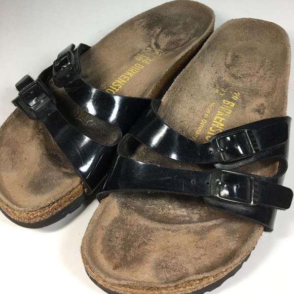 a128aa12033b Birkenstock Shoes - Birkenstock Ibiza Black Patent Sandals