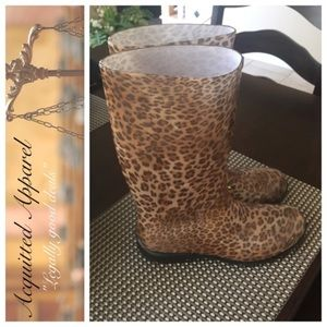 Acquitted Apparel Shoes - [Acquitted Apparel] Leopard Print Rain Boots