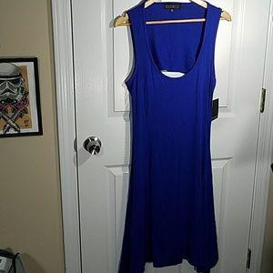 Eloquii Dresses & Skirts - Eloquii blue sleeveless stretchy swing dress NWT