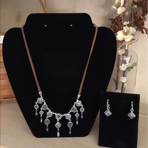 Southwest Style Necklace & Earrings