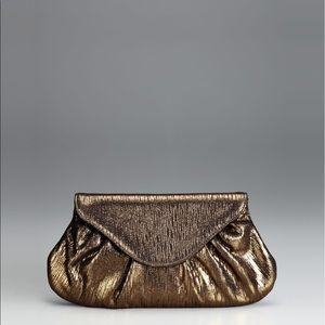 Lauren Merkin Lotte Creased Metallic Clutch