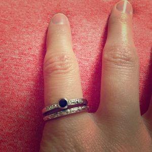 Jewelry - Silver Black Stone Ring