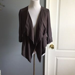 Anthropologie elevenses open drapey jacket