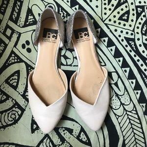 BC Footwear Shoes - Nude Flats w/Metallic Heel (BC)