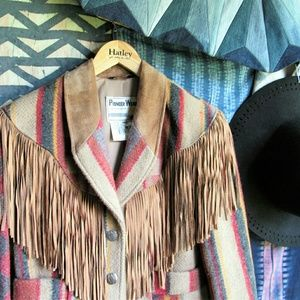 Vintage Jackets & Blazers - Vintage 80s Pioneer Wear leather fringe jacket
