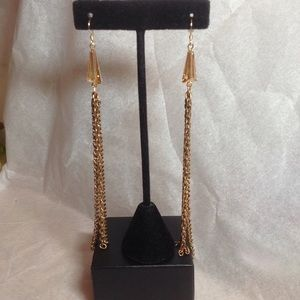 """Alex And Ani Jewelry - 🆕ALEX and ANI Golden Aura 5"""" drop chain earrings"""